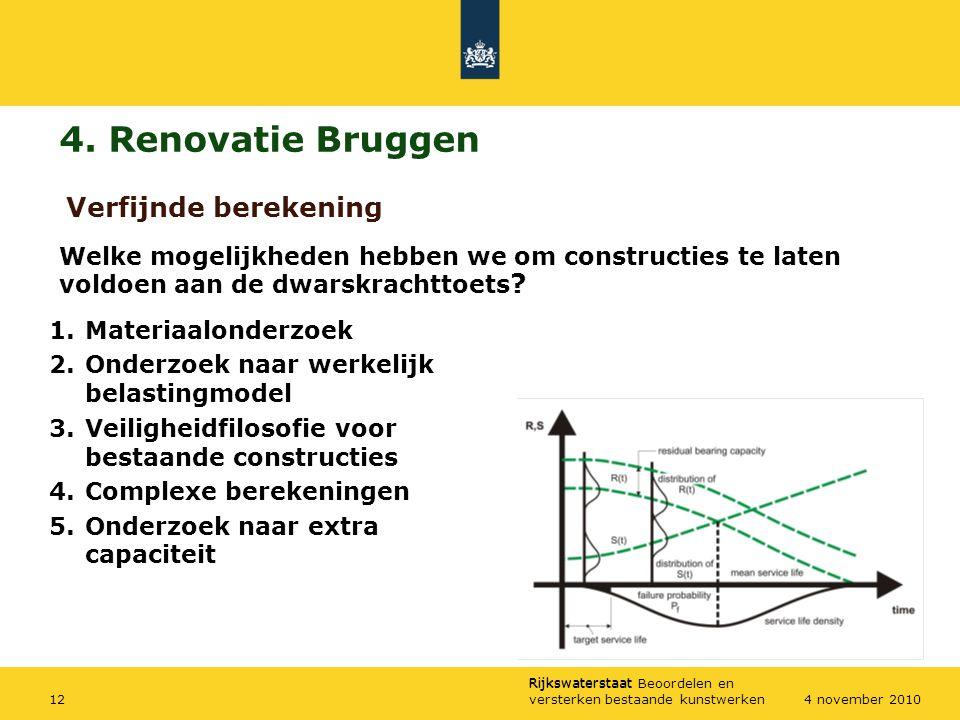 4. Renovatie Bruggen Verfijnde berekening