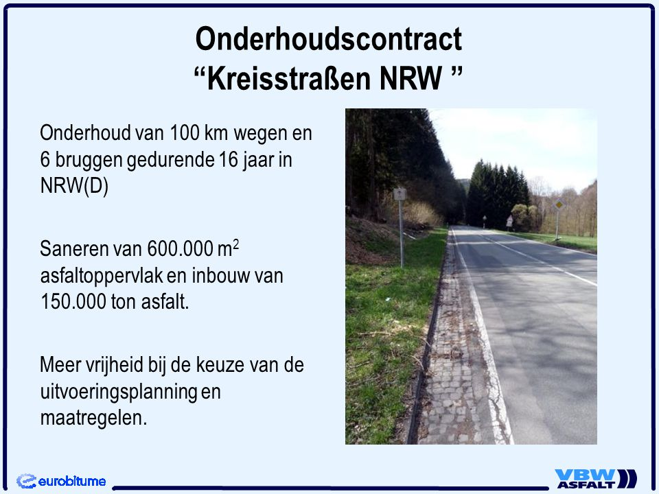 Onderhoudscontract Kreisstraßen NRW