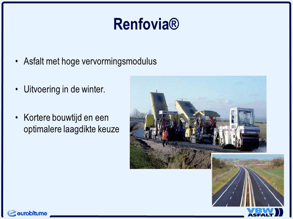 Renfovia® Asfalt met hoge vervormingsmodulus Uitvoering in de winter.