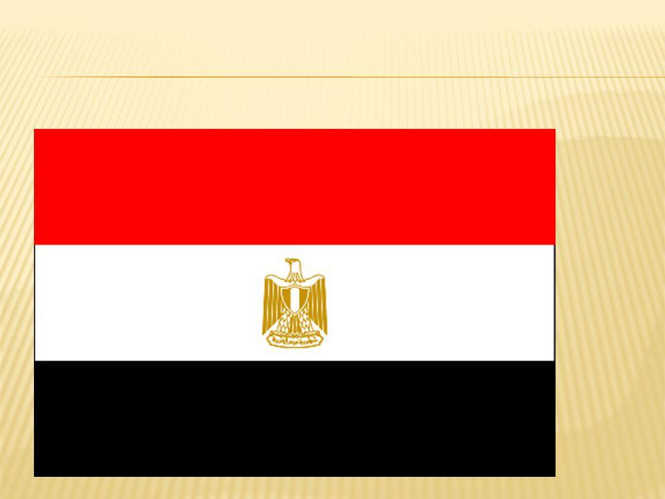 De vlag van Egypte en het volkslied.