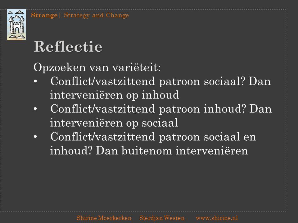 Reflectie Opzoeken van variëteit: