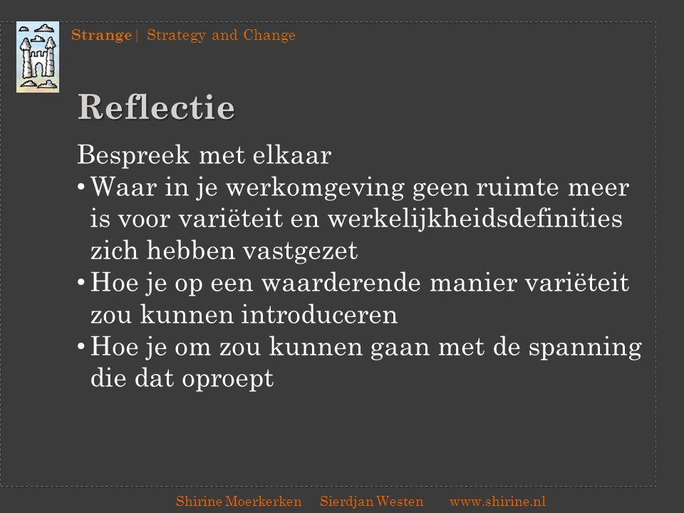 Reflectie Bespreek met elkaar