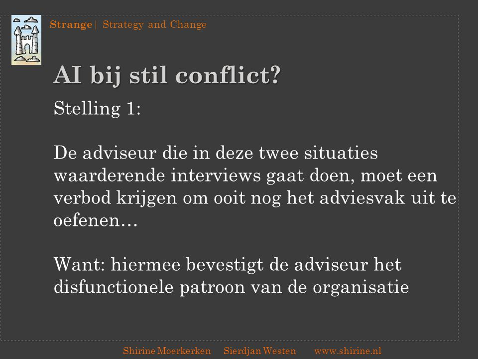 AI bij stil conflict Stelling 1: