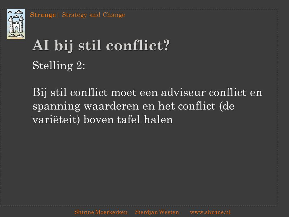 AI bij stil conflict Stelling 2: