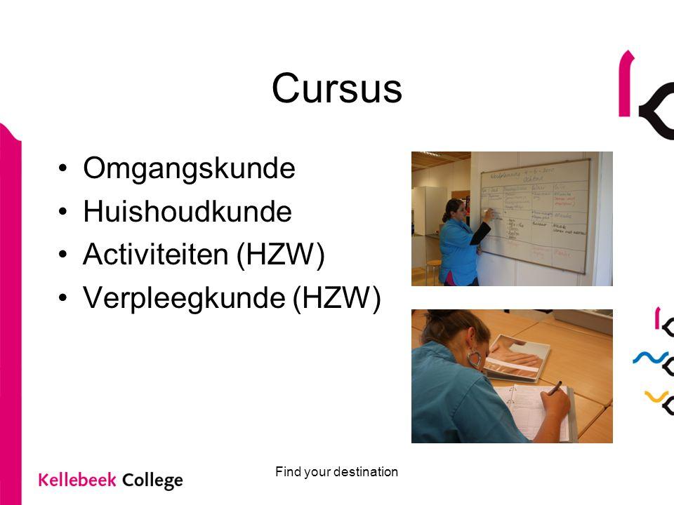 Cursus Omgangskunde Huishoudkunde Activiteiten (HZW)