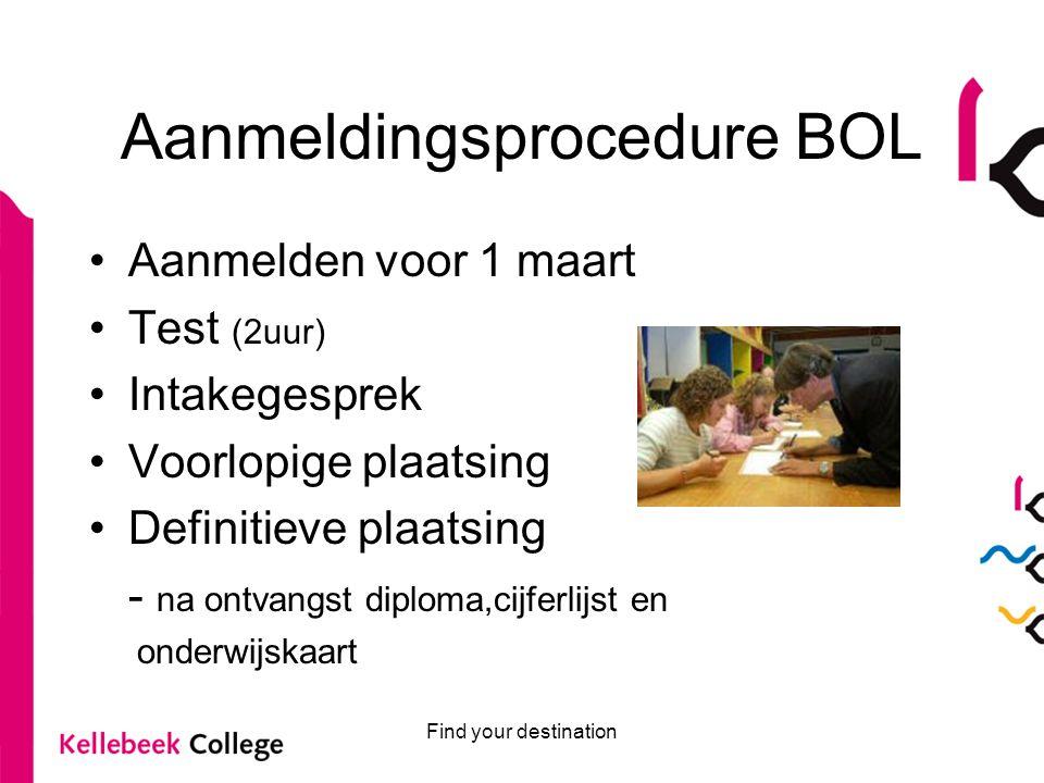 Aanmeldingsprocedure BOL