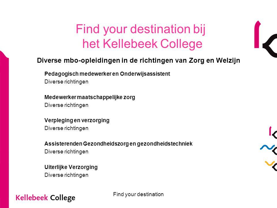 Diverse mbo-opleidingen in de richtingen van Zorg en Welzijn