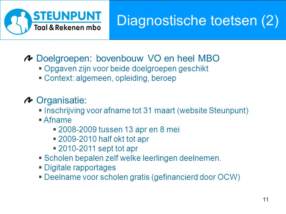 Diagnostische toetsen (2)