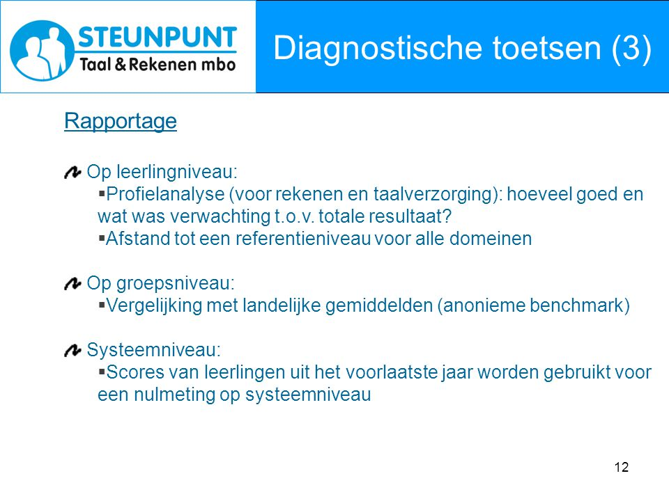 Diagnostische toetsen (3)