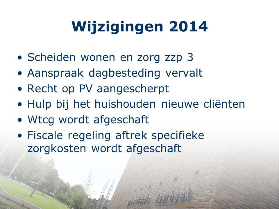Wijzigingen 2014 Scheiden wonen en zorg zzp 3