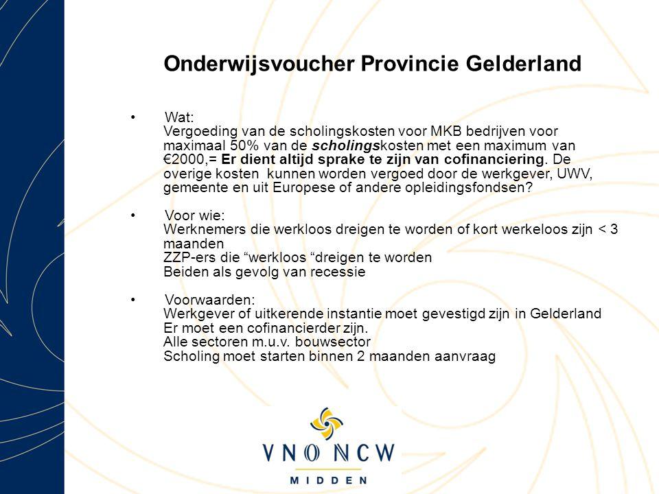 Onderwijsvoucher Provincie Gelderland