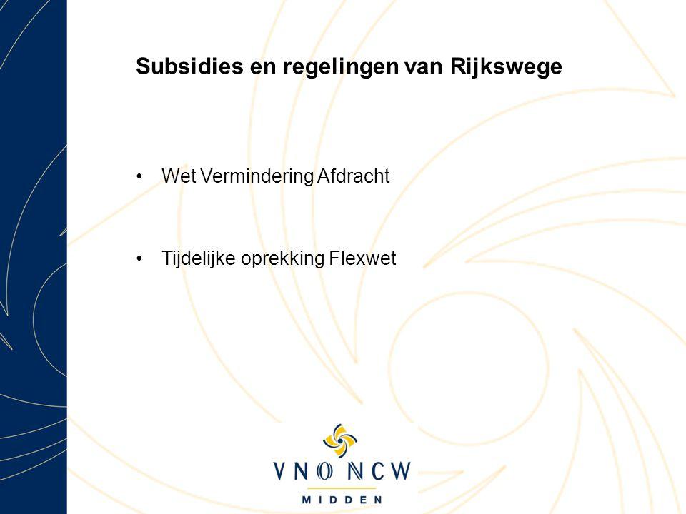 Subsidies en regelingen van Rijkswege
