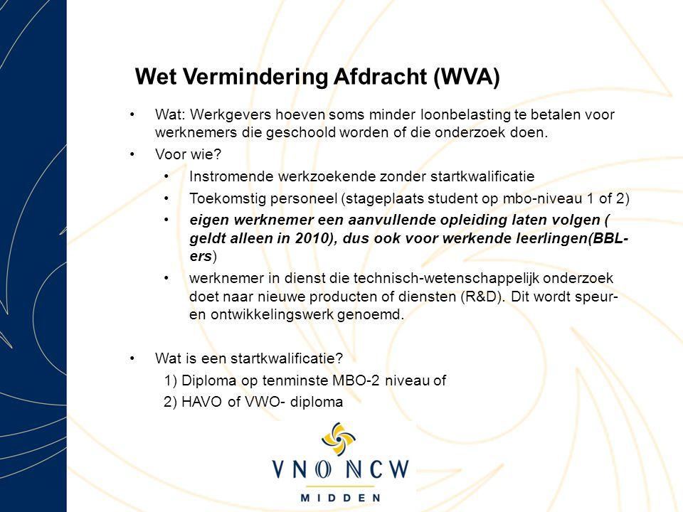 Wet Vermindering Afdracht (WVA)