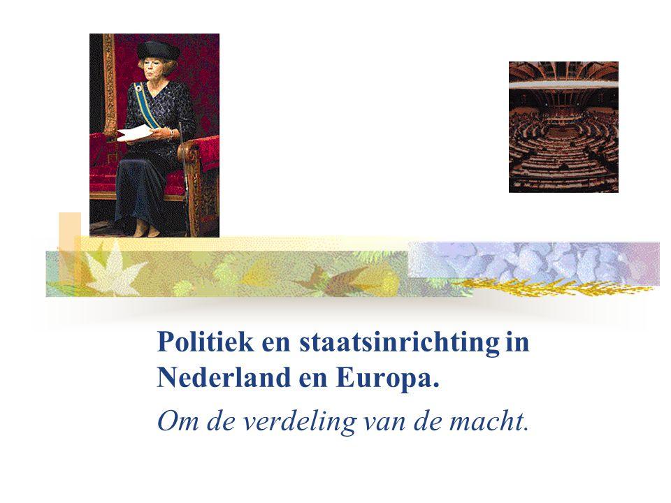 Politiek en staatsinrichting in Nederland en Europa.