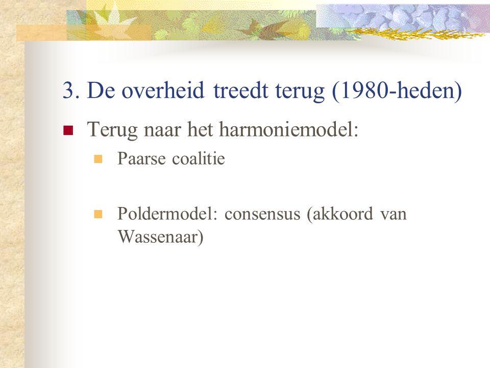 3. De overheid treedt terug (1980-heden)