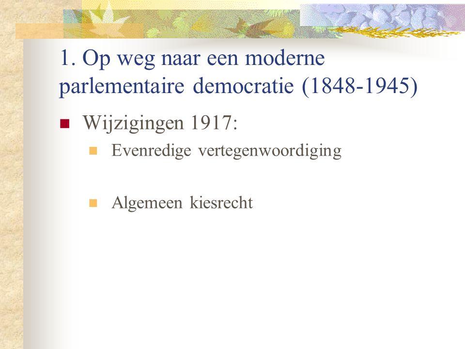1. Op weg naar een moderne parlementaire democratie (1848-1945)