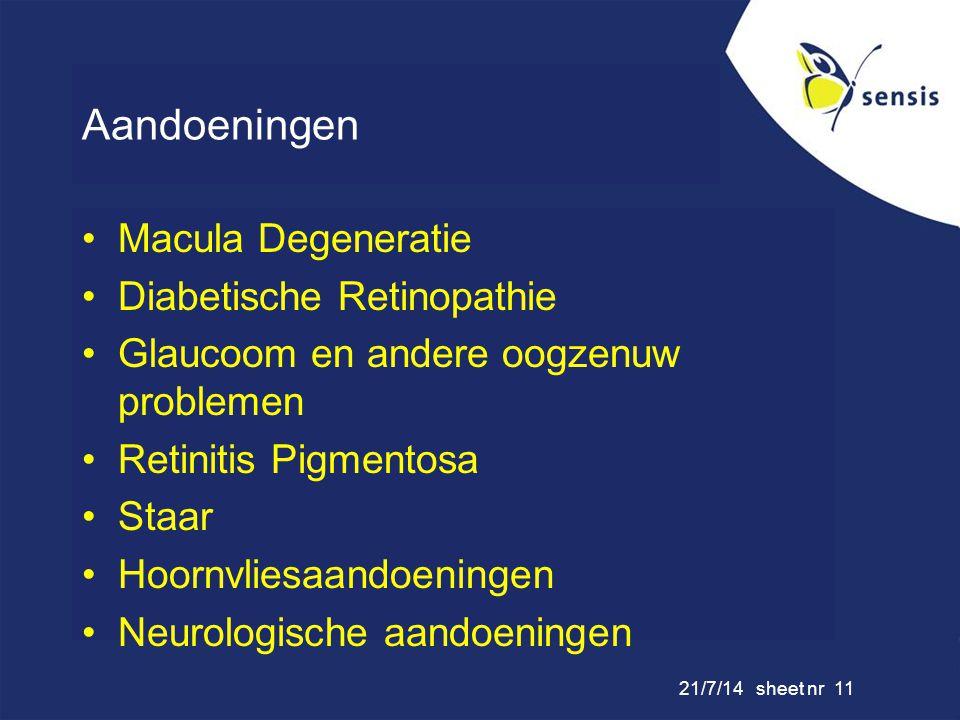 Aandoeningen Macula Degeneratie Diabetische Retinopathie