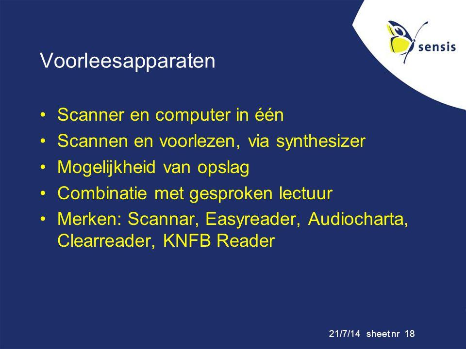 Voorleesapparaten Scanner en computer in één