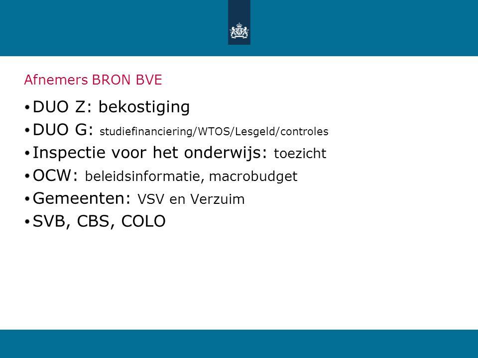 DUO G: studiefinanciering/WTOS/Lesgeld/controles
