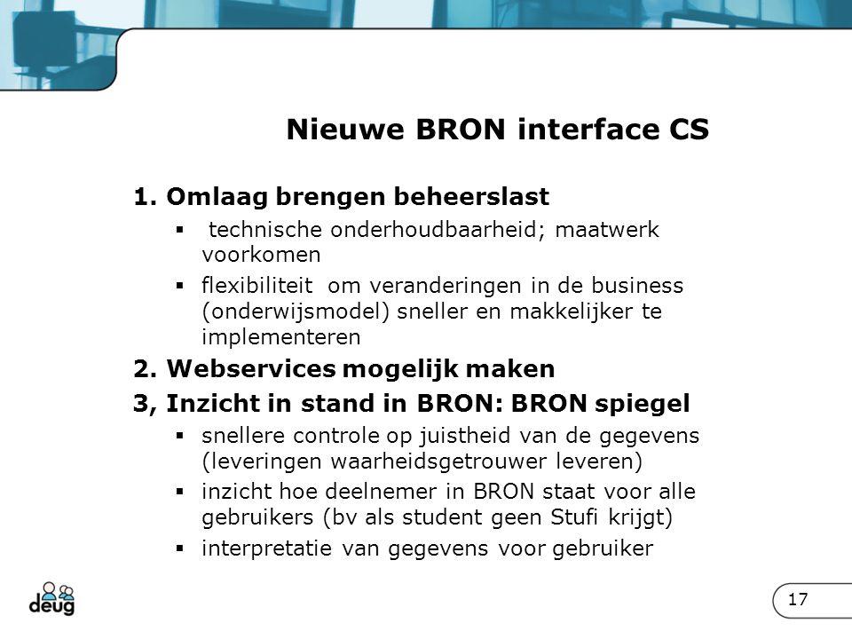 Nieuwe BRON interface CS