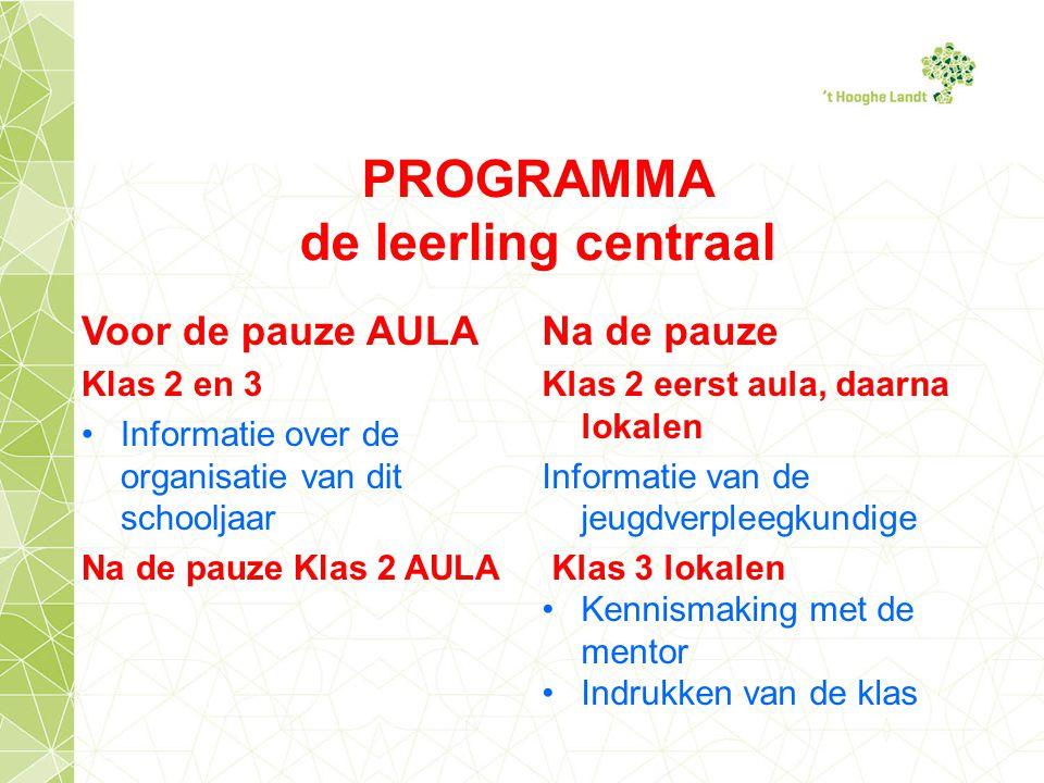 PROGRAMMA de leerling centraal