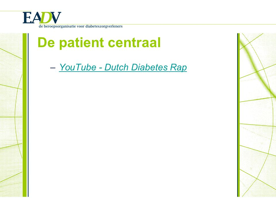 De patient centraal YouTube - Dutch Diabetes Rap