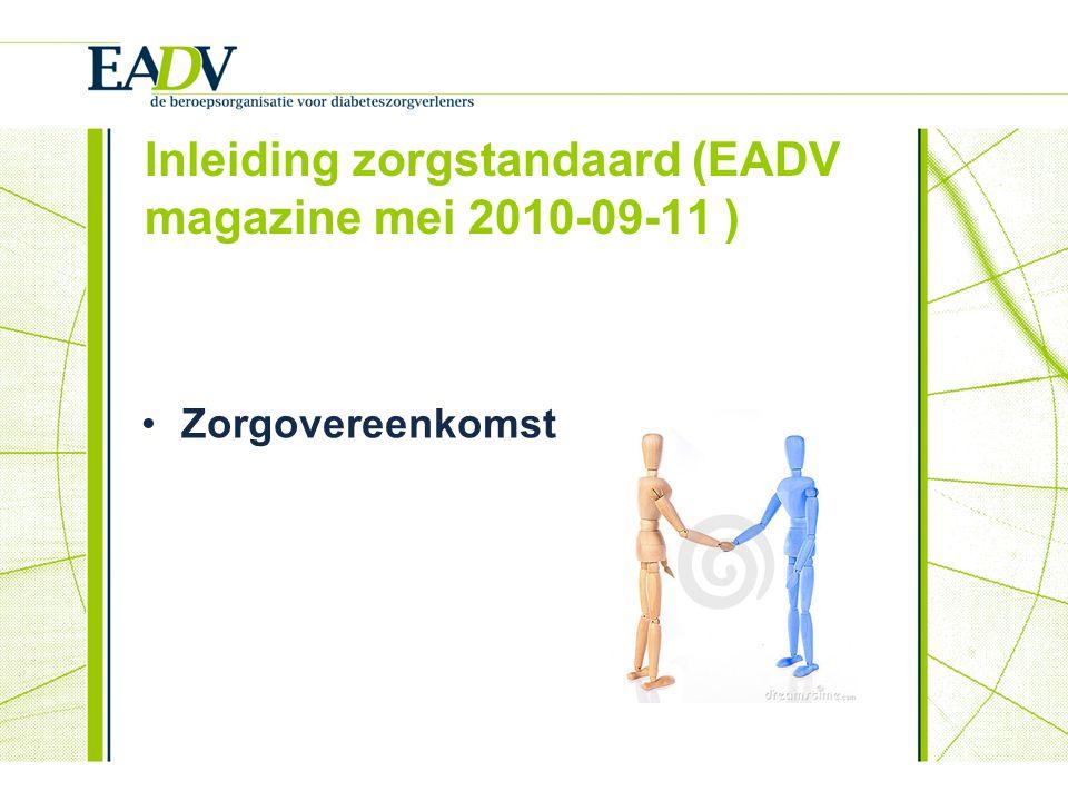 Inleiding zorgstandaard (EADV magazine mei 2010-09-11 )