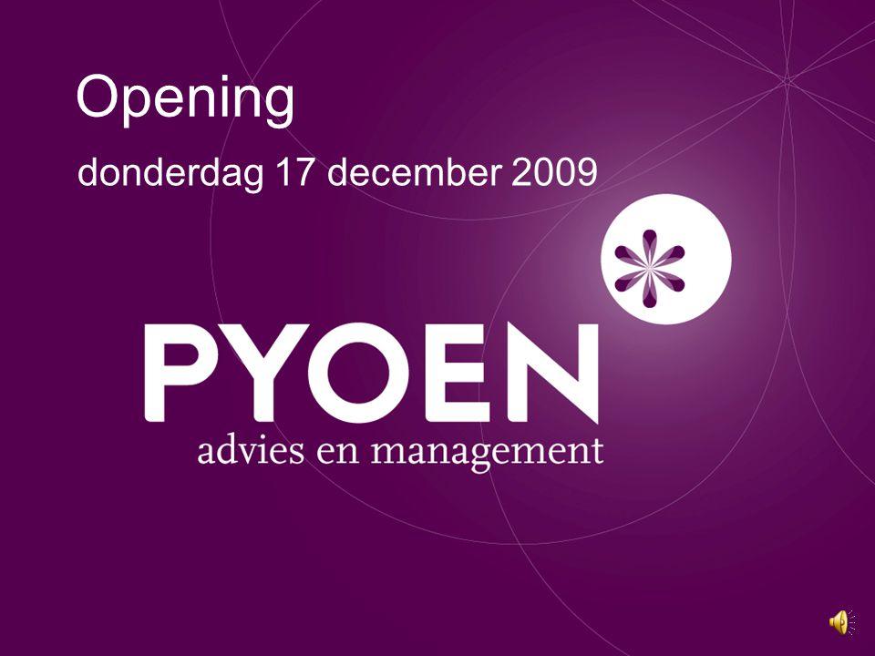 Opening donderdag 17 december 2009
