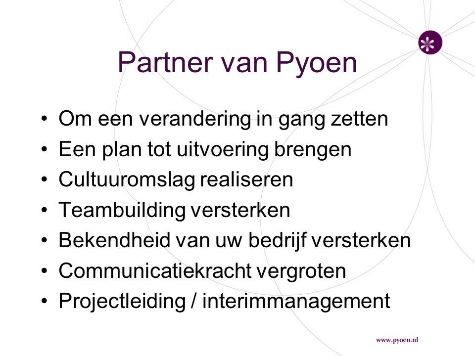 Partner van Pyoen Om een verandering in gang zetten
