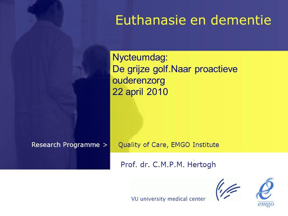 Euthanasie en dementie