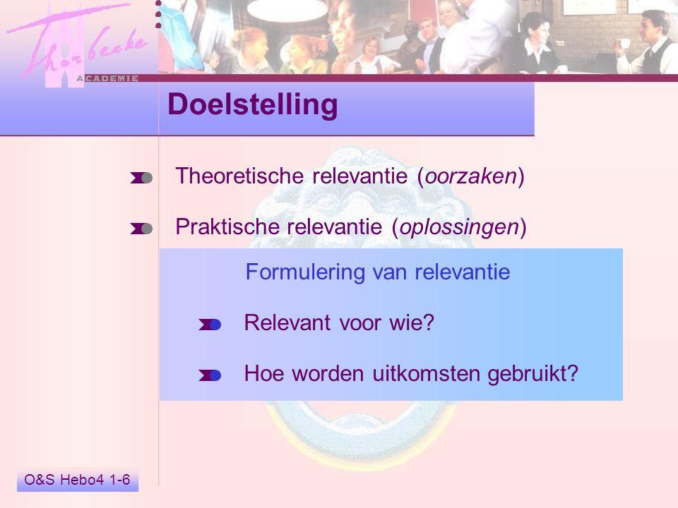 Doelstelling Theoretische relevantie (oorzaken)