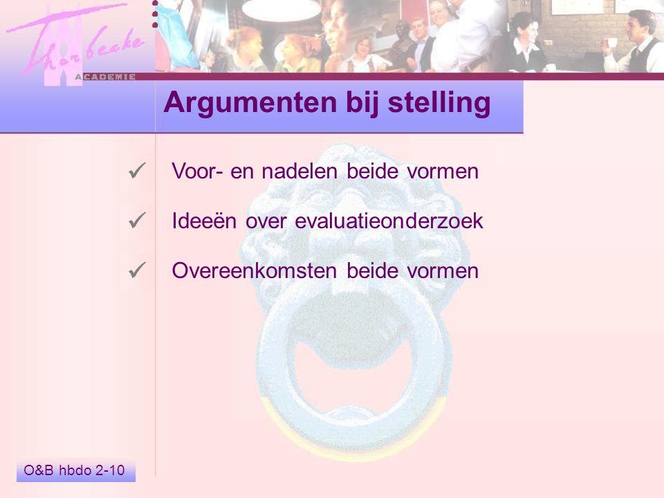 Argumenten bij stelling