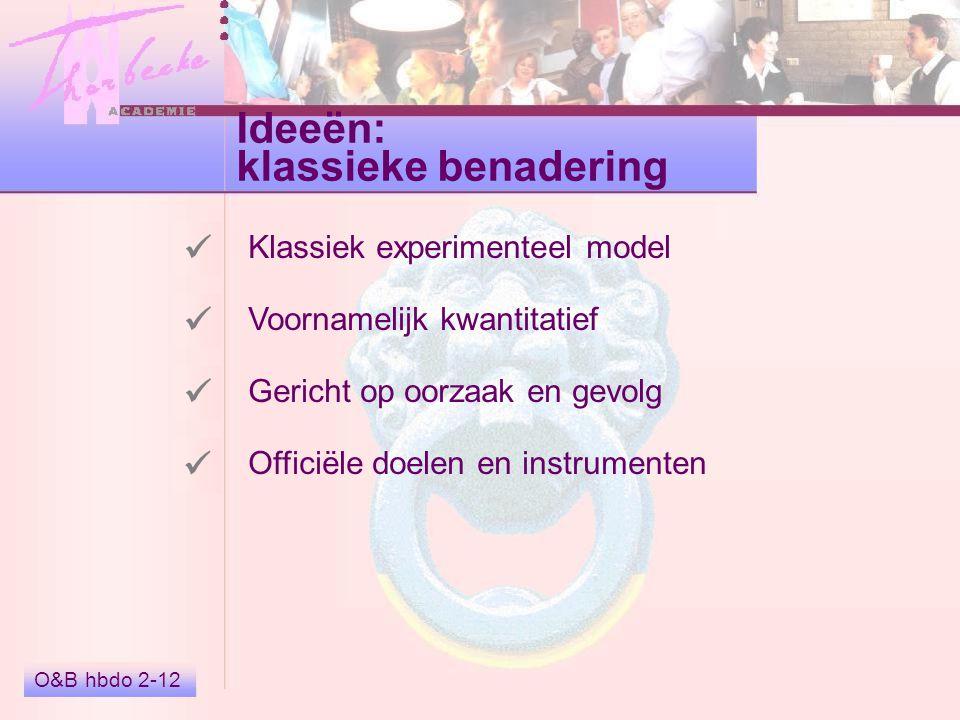 Ideeën: klassieke benadering