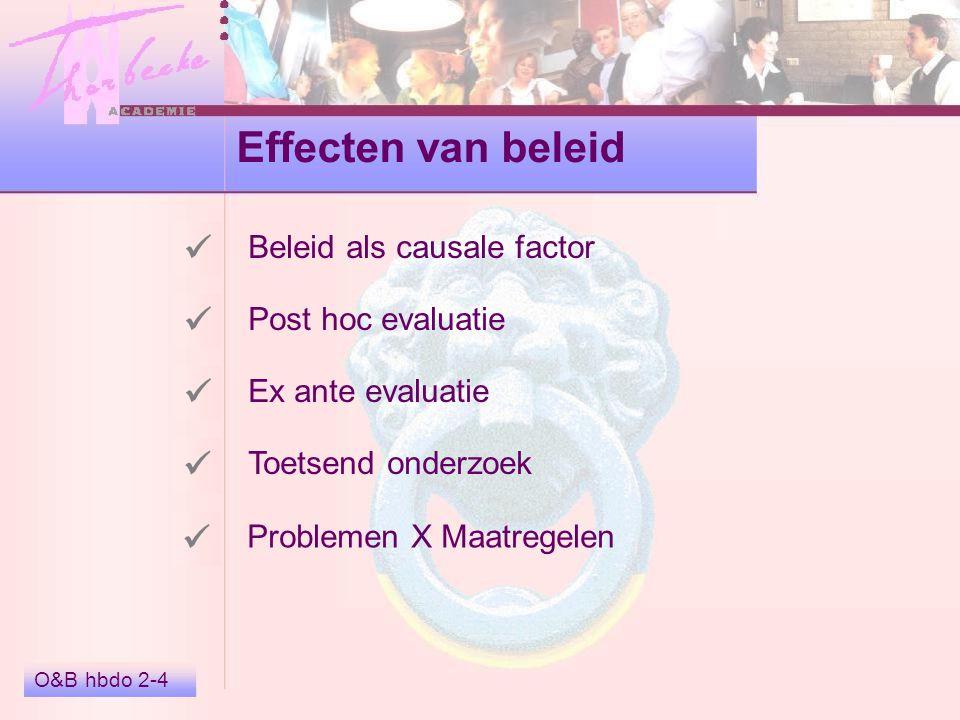 Effecten van beleid      Beleid als causale factor
