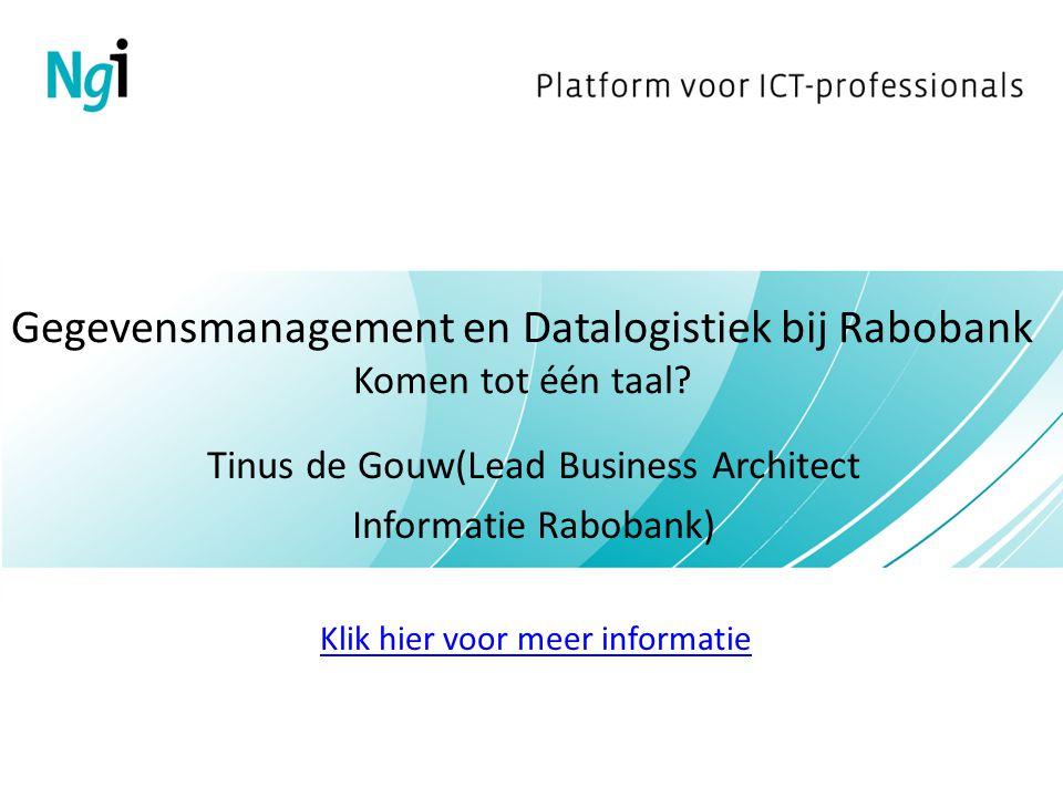 Gegevensmanagement en Datalogistiek bij Rabobank Komen tot één taal