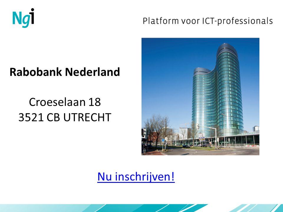 Rabobank Nederland Croeselaan 18 3521 CB UTRECHT