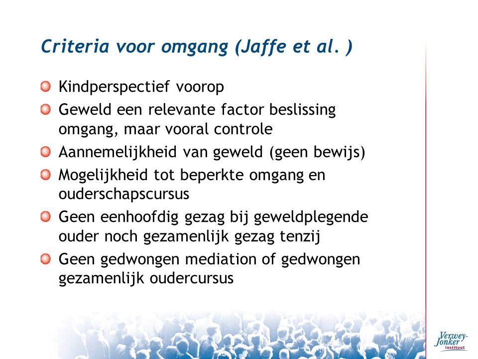 Criteria voor omgang (Jaffe et al. )