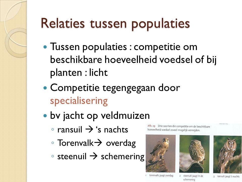 Relaties tussen populaties