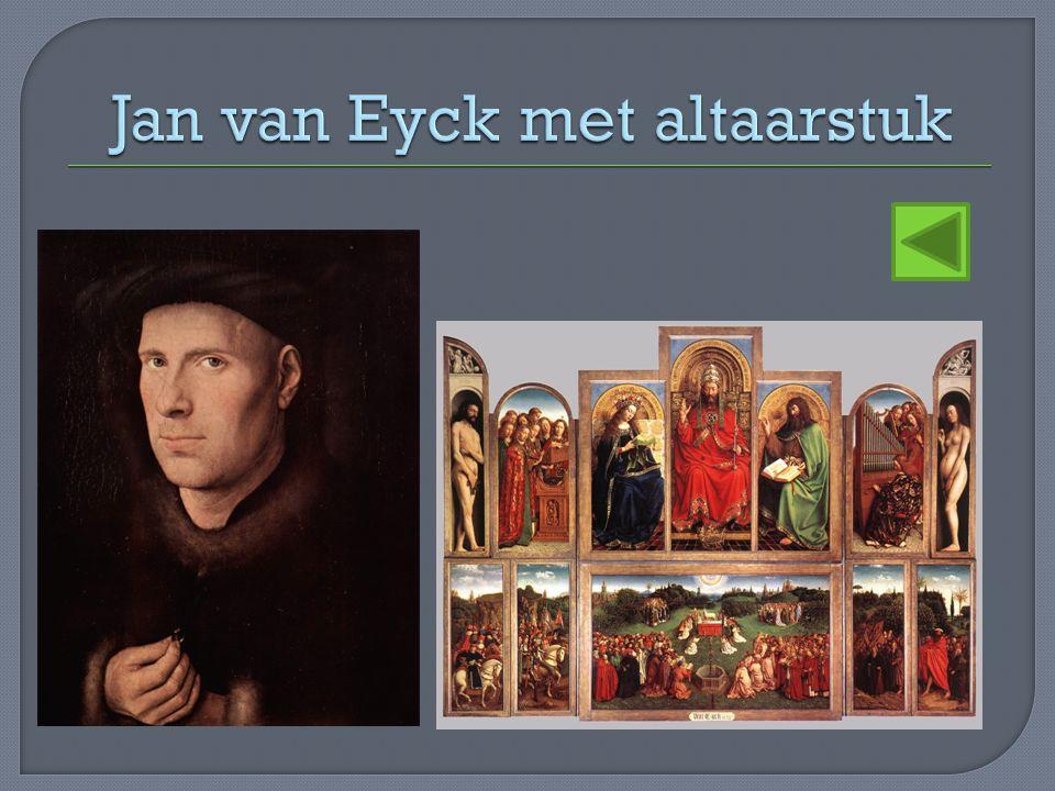 Jan van Eyck met altaarstuk