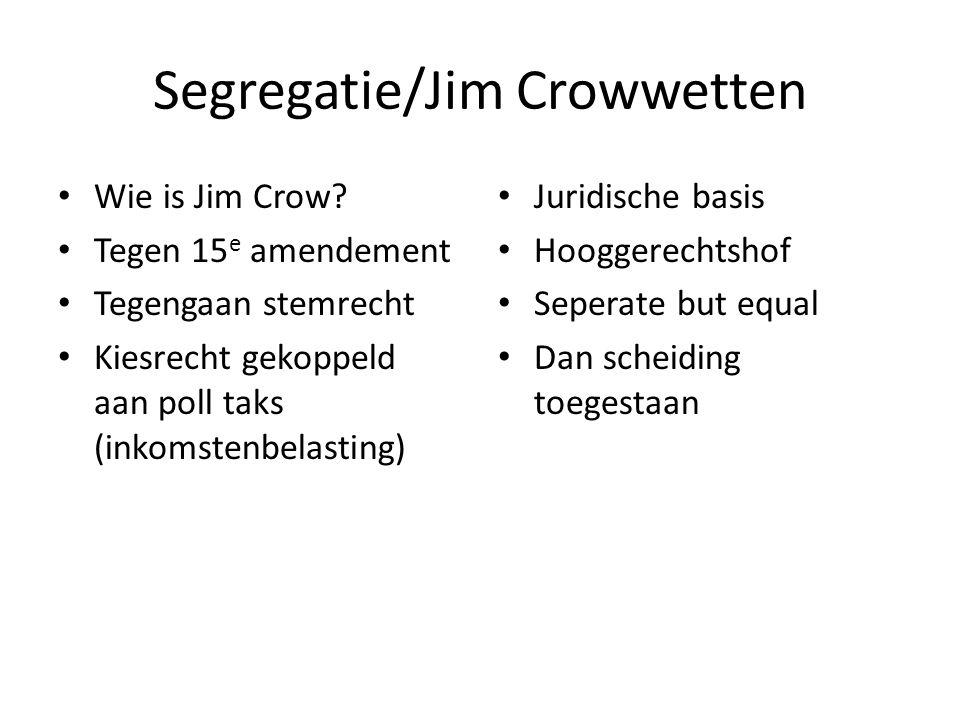 Segregatie/Jim Crowwetten