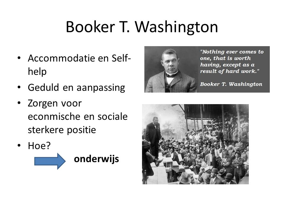 Booker T. Washington Accommodatie en Self-help Geduld en aanpassing