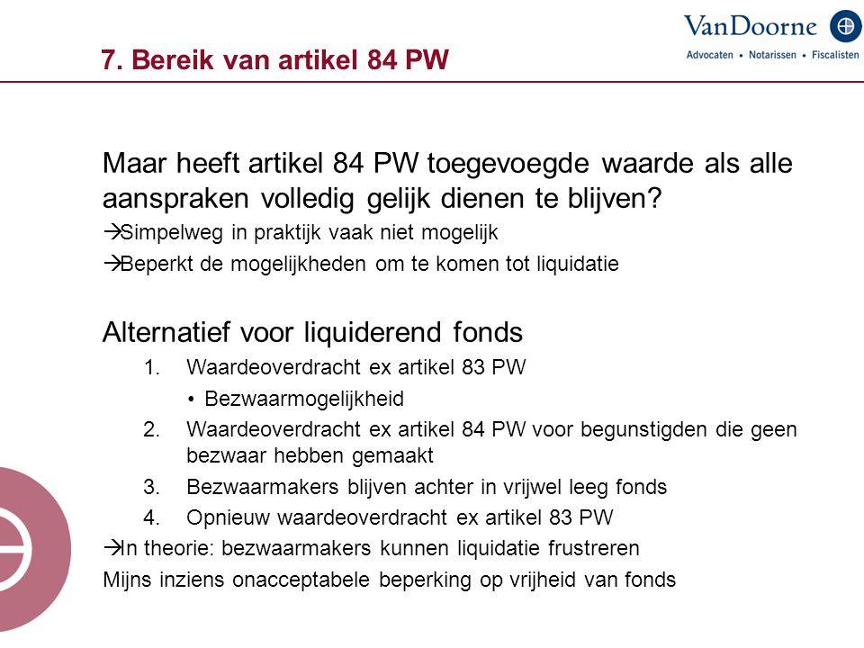 Alternatief voor liquiderend fonds
