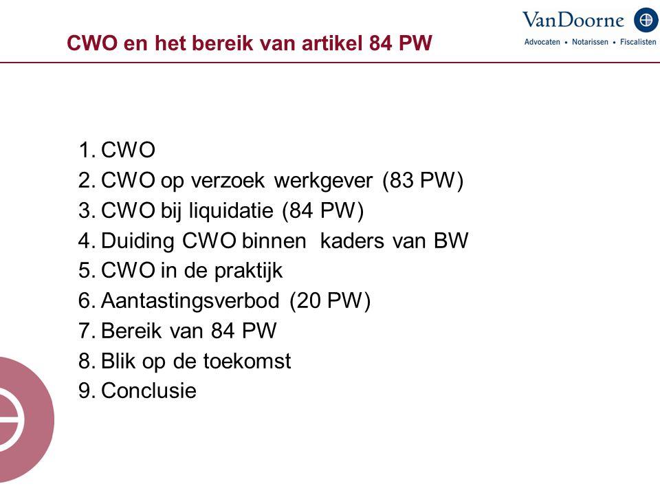 CWO en het bereik van artikel 84 PW