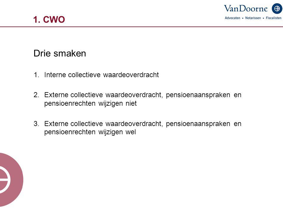 Drie smaken 1. CWO Interne collectieve waardeoverdracht