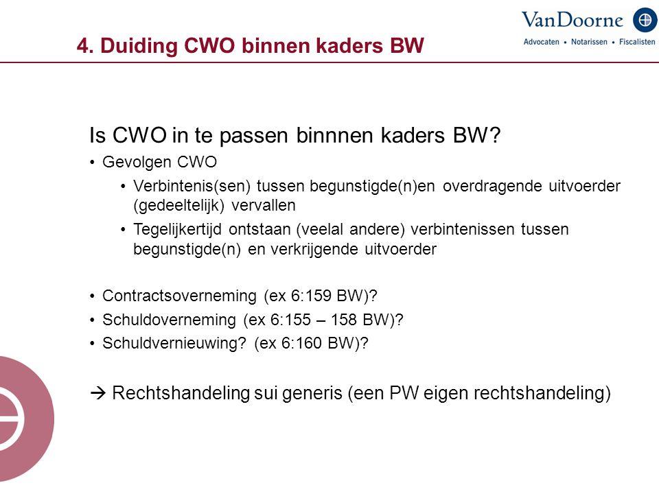4. Duiding CWO binnen kaders BW