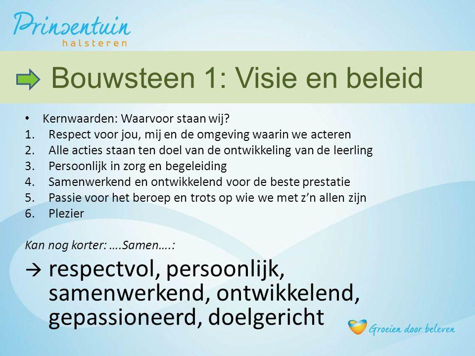 Bouwsteen 1: Visie en beleid