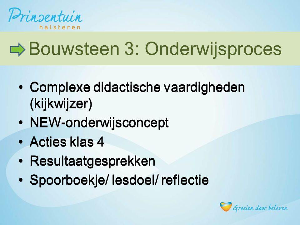 Bouwsteen 3: Onderwijsproces Bouwsteen 3: Onderwijsproces