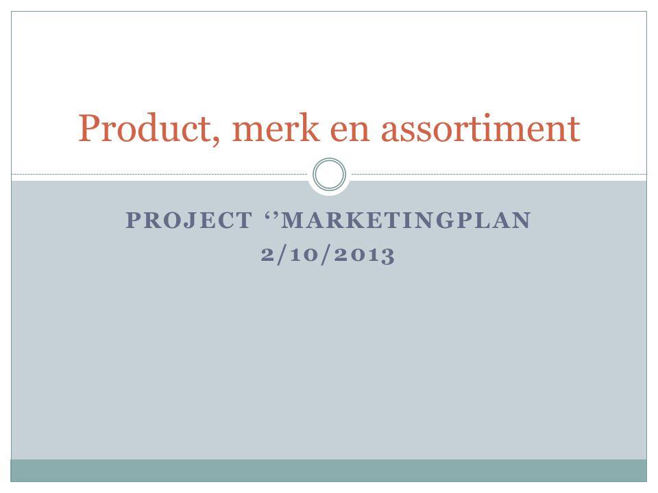 Product, merk en assortiment