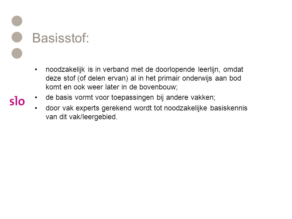 Basisstof: