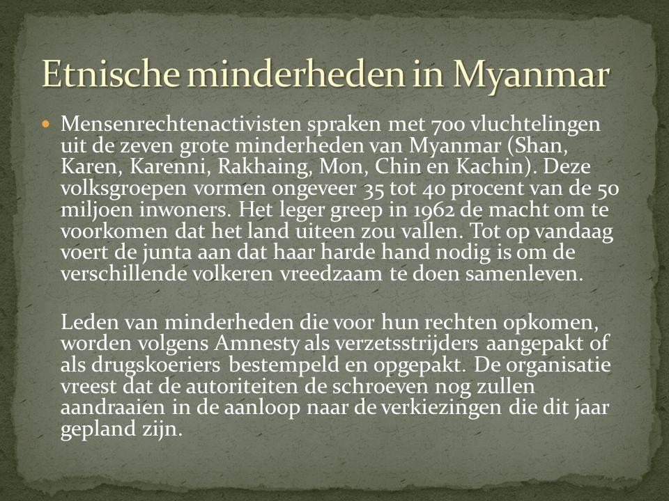 Etnische minderheden in Myanmar